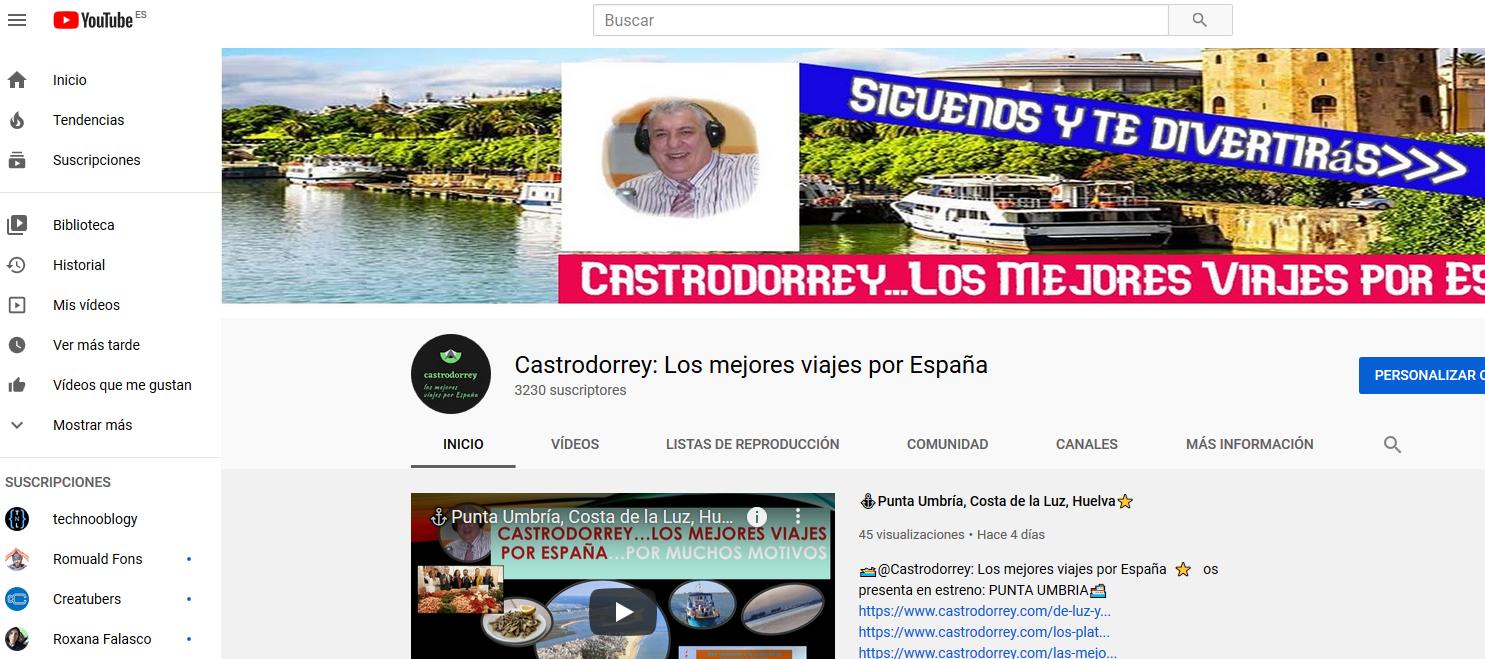 Castrodorrey: Los Mejores Viajes por España en Youtube Este es el canal de Castrodorrey en Youtube
